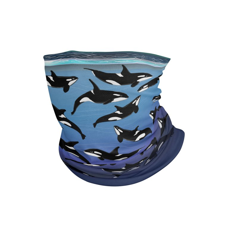 Some Orcas Swimming Around Accessories Neck Gaiter by The Underdone Comics Shop