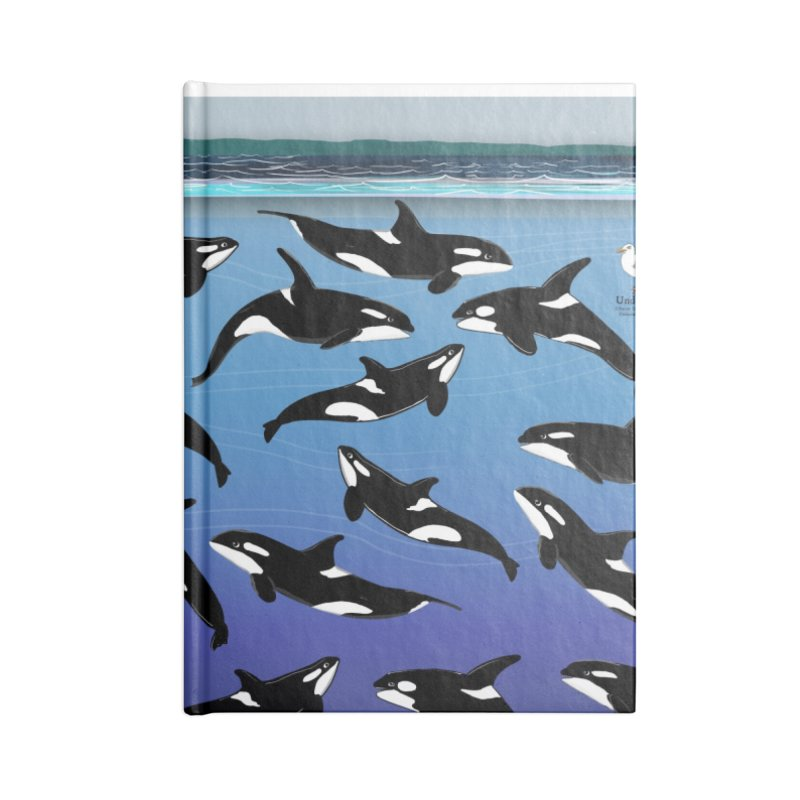 Some Orcas Swimming Around Accessories Notebook by The Underdone Comics Shop