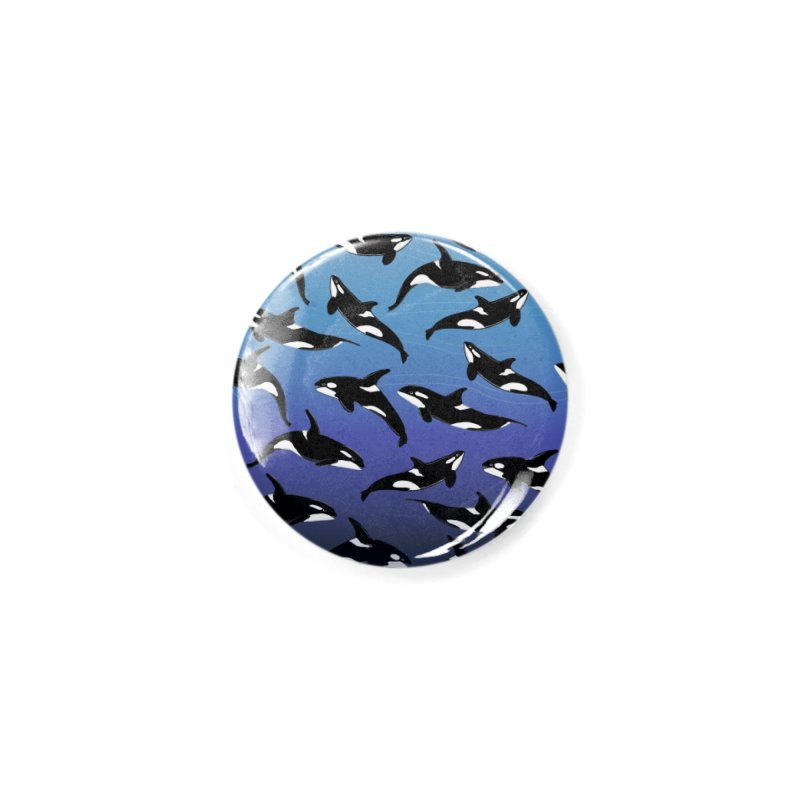 Some Orcas Swimming Around Accessories Button by The Underdone Comics Shop