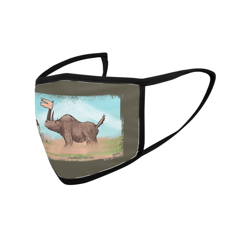 Woolly Rhino's Got Your Pants! Accessories Face Mask by The Underdone Comics Shop