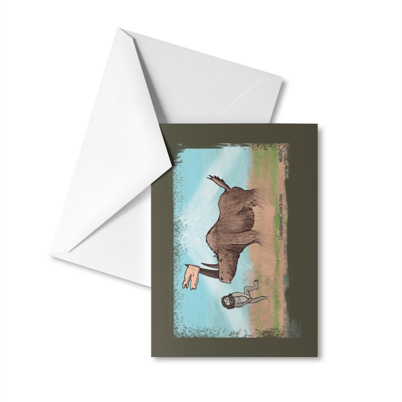 Woolly Rhino's Got Your Pants! Accessories Greeting Card by The Underdone Comics Shop