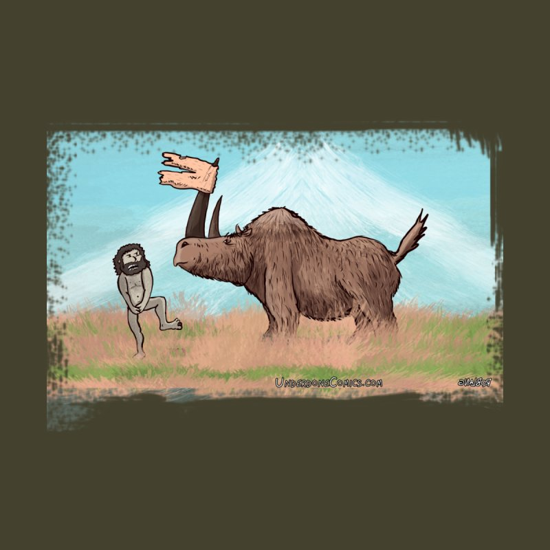 Woolly Rhino's Got Your Pants! Home Shower Curtain by The Underdone Comics Shop