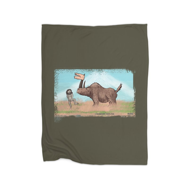 Woolly Rhino's Got Your Pants! Home Blanket by The Underdone Comics Shop