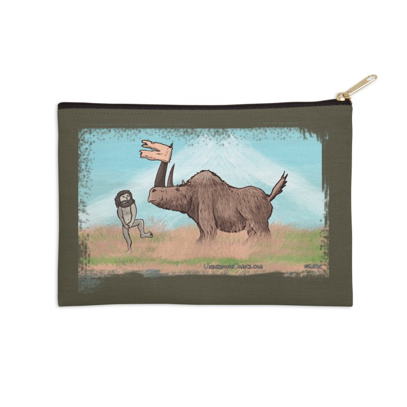 Woolly Rhino's Got Your Pants! Accessories Zip Pouch by The Underdone Comics Shop