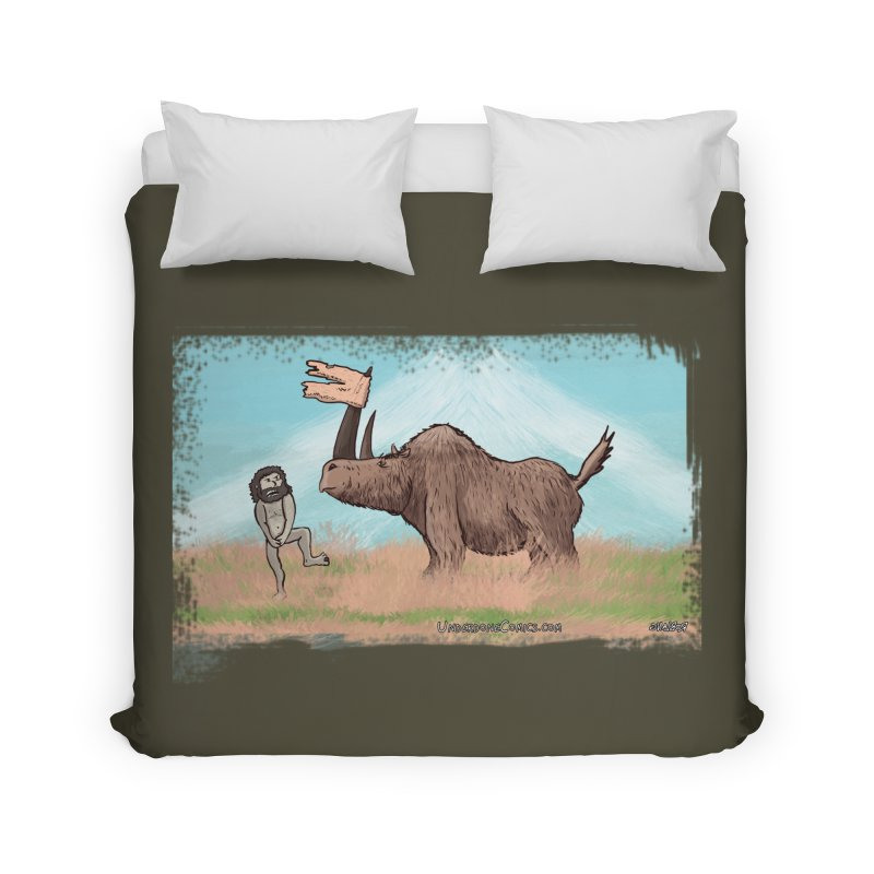 Woolly Rhino's Got Your Pants! Home Duvet by The Underdone Comics Shop