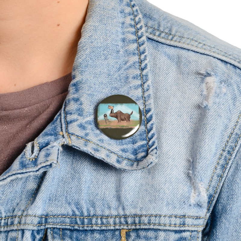Woolly Rhino's Got Your Pants! Accessories Button by The Underdone Comics Shop