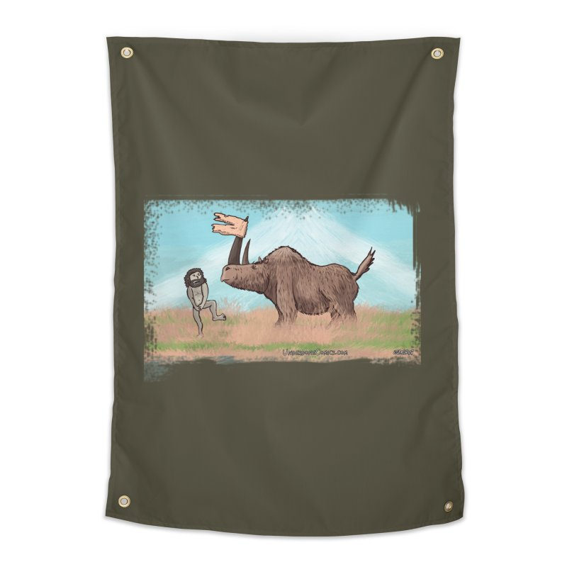 Woolly Rhino's Got Your Pants! Home Tapestry by The Underdone Comics Shop