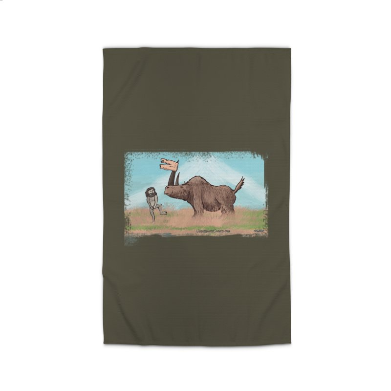 Woolly Rhino's Got Your Pants! Home Rug by The Underdone Comics Shop