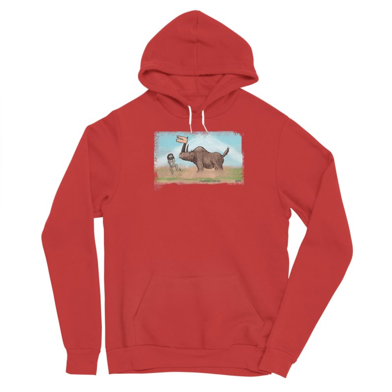 Woolly Rhino's Got Your Pants! Men's Pullover Hoody by The Underdone Comics Shop