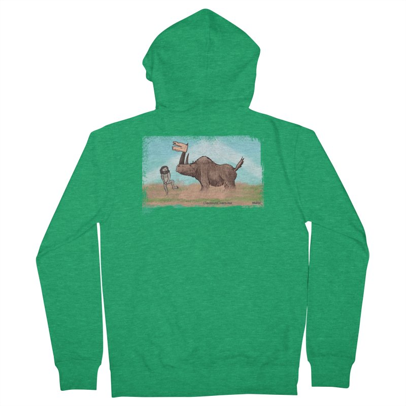 Woolly Rhino's Got Your Pants! Women's Zip-Up Hoody by The Underdone Comics Shop