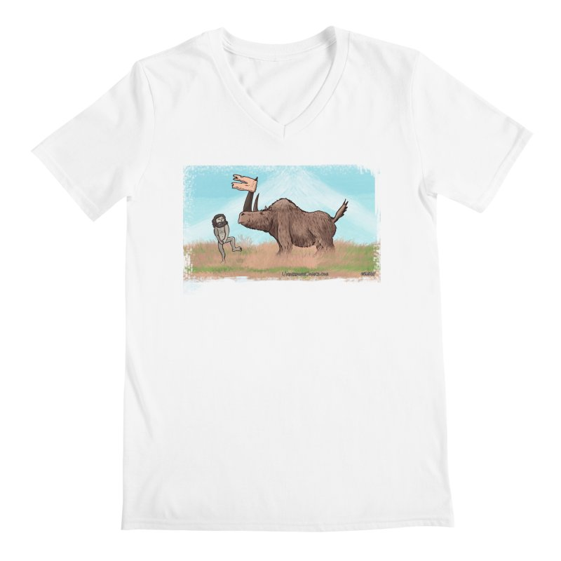 Woolly Rhino's Got Your Pants! Men's V-Neck by The Underdone Comics Shop