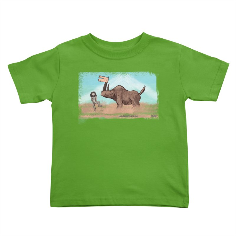 Woolly Rhino's Got Your Pants! Kids Toddler T-Shirt by The Underdone Comics Shop