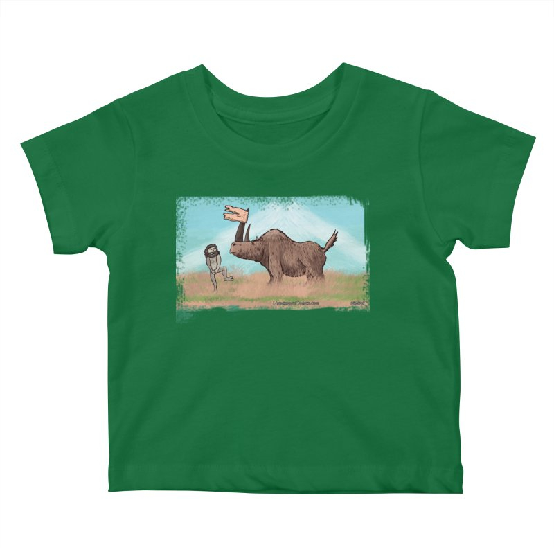 Woolly Rhino's Got Your Pants! Kids Baby T-Shirt by The Underdone Comics Shop