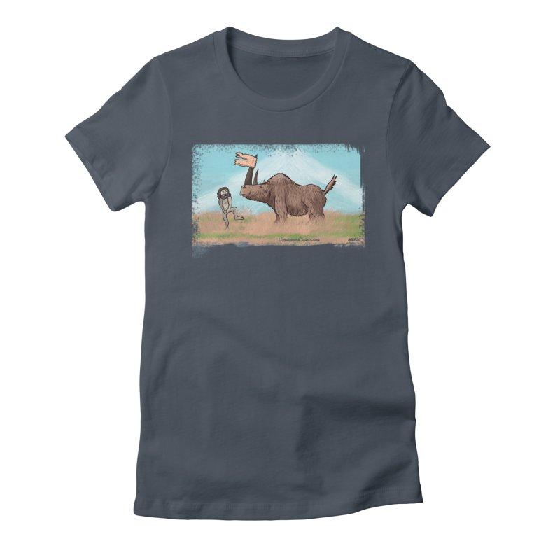 Woolly Rhino's Got Your Pants! Women's T-Shirt by The Underdone Comics Shop