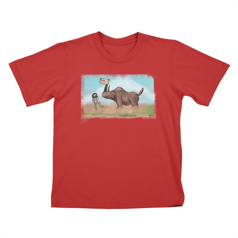 Woolly Rhino's Got Your Pants! Kids T-Shirt by The Underdone Comics Shop