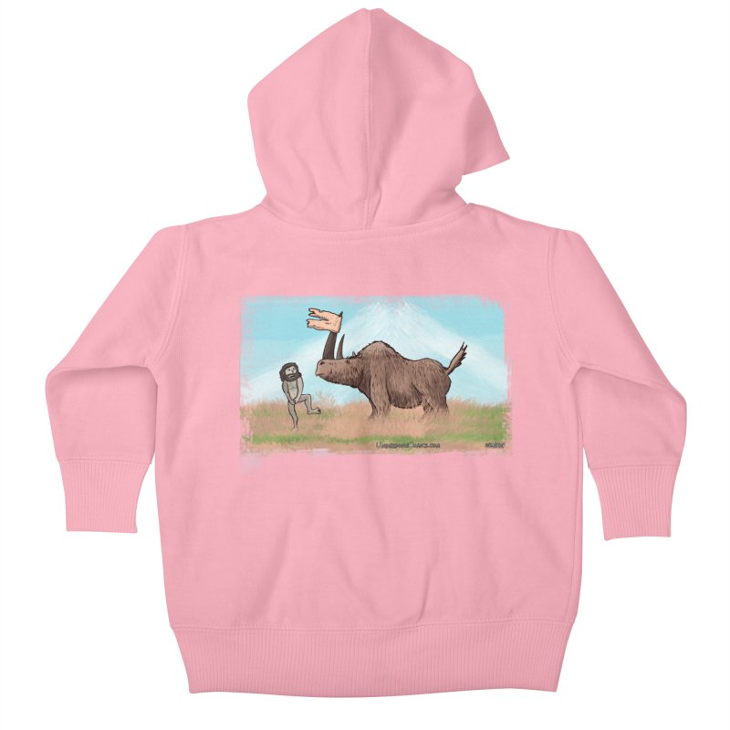 Woolly Rhino's Got Your Pants! Kids Baby Zip-Up Hoody by The Underdone Comics Shop