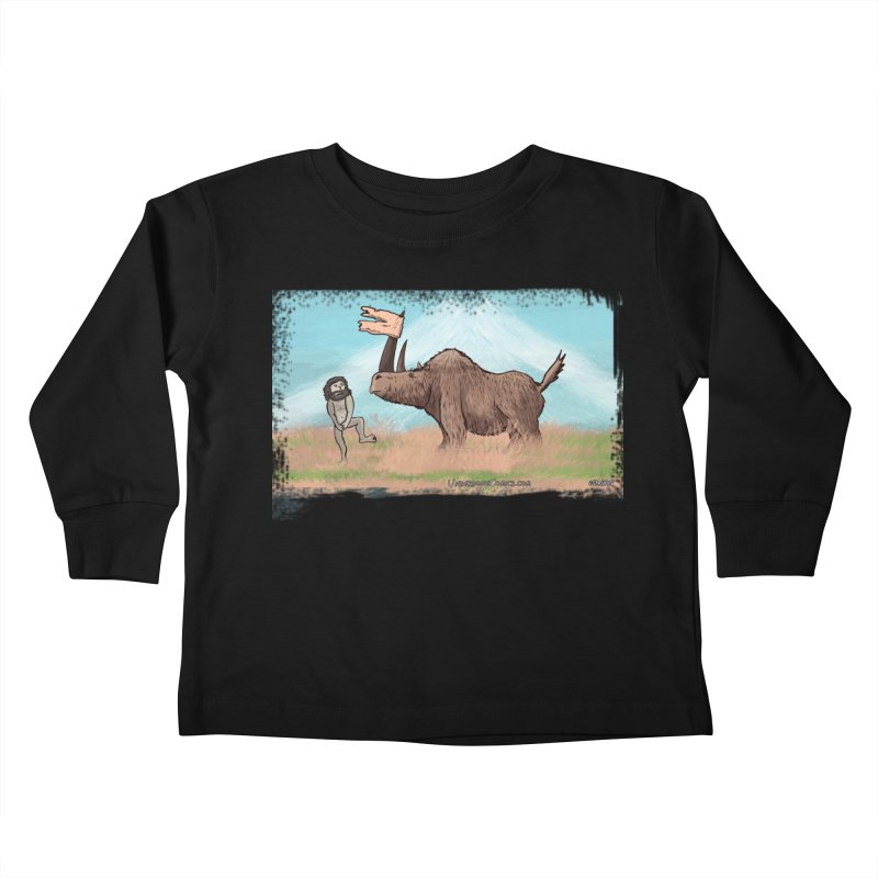Woolly Rhino's Got Your Pants! Kids Toddler Longsleeve T-Shirt by The Underdone Comics Shop