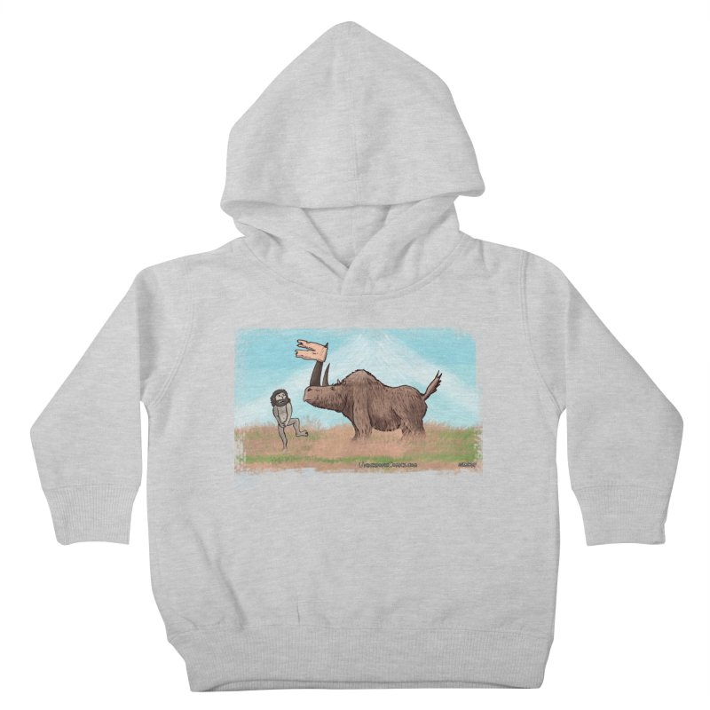 Woolly Rhino's Got Your Pants! Kids Toddler Pullover Hoody by The Underdone Comics Shop