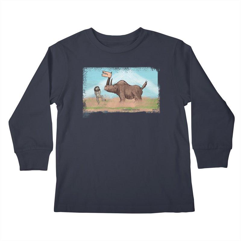 Woolly Rhino's Got Your Pants! Kids Longsleeve T-Shirt by The Underdone Comics Shop