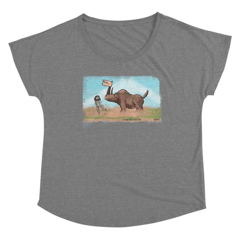 Woolly Rhino's Got Your Pants! Women's Scoop Neck by The Underdone Comics Shop