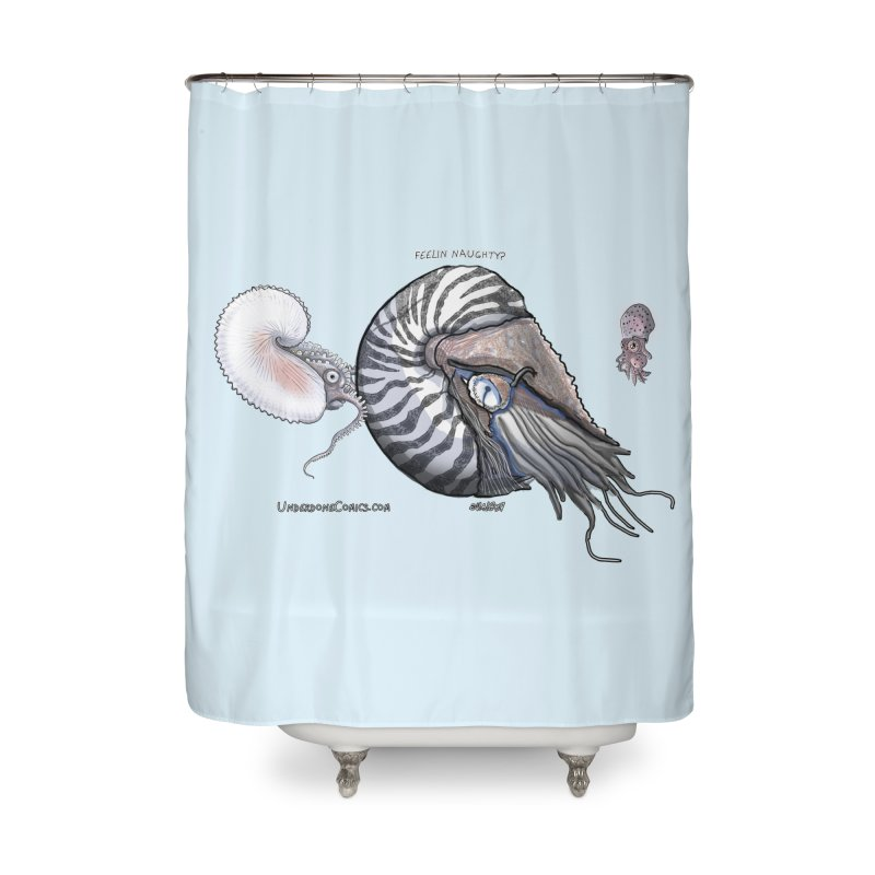 Nautilus and Argonaut Love Triangle Home Shower Curtain by The Underdone Comics Shop