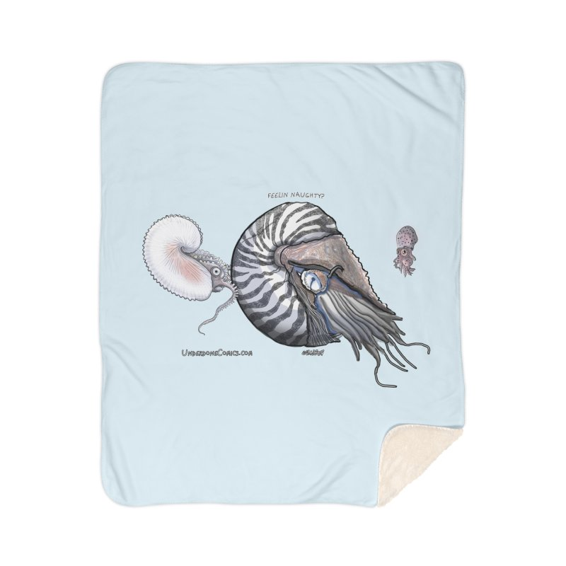 Nautilus and Argonaut Love Triangle Home Blanket by The Underdone Comics Shop