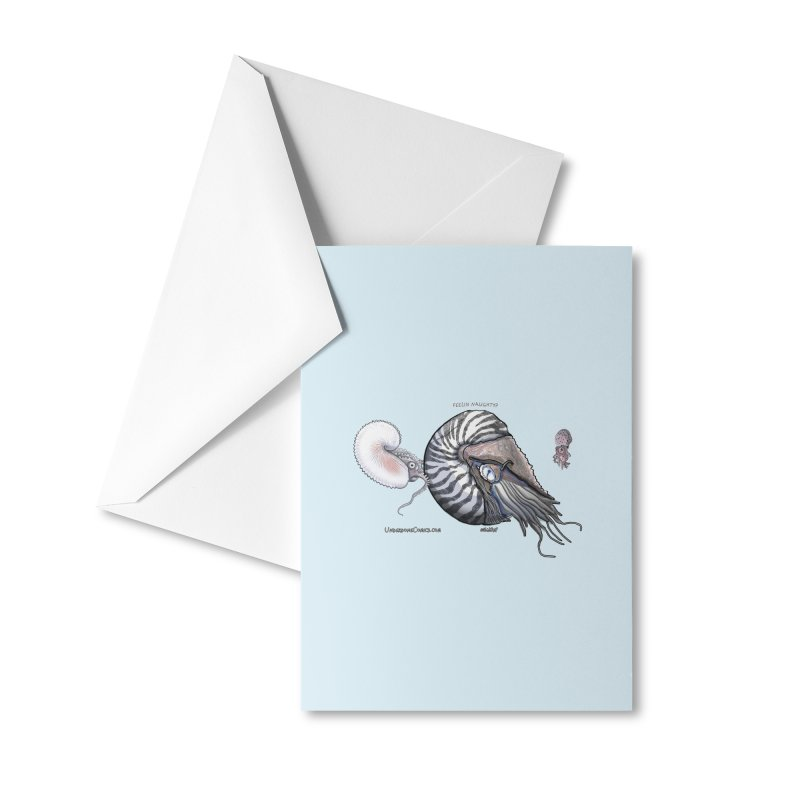 Nautilus and Argonaut Love Triangle Accessories Greeting Card by The Underdone Comics Shop