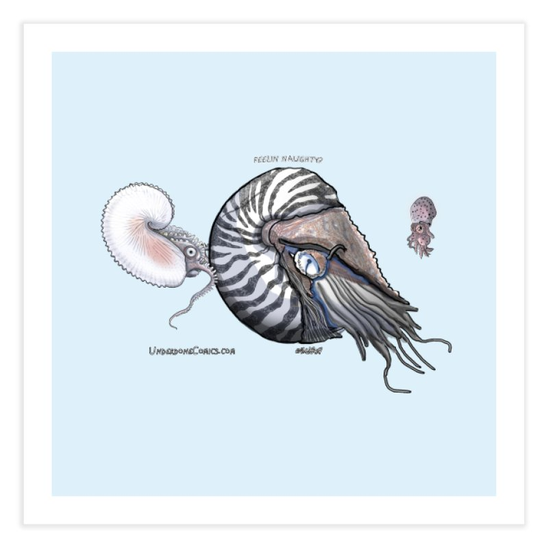 Nautilus and Argonaut Love Triangle Home Fine Art Print by The Underdone Comics Shop