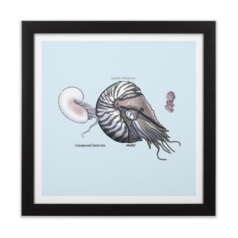 Nautilus and Argonaut Love Triangle Home Framed Fine Art Print by The Underdone Comics Shop