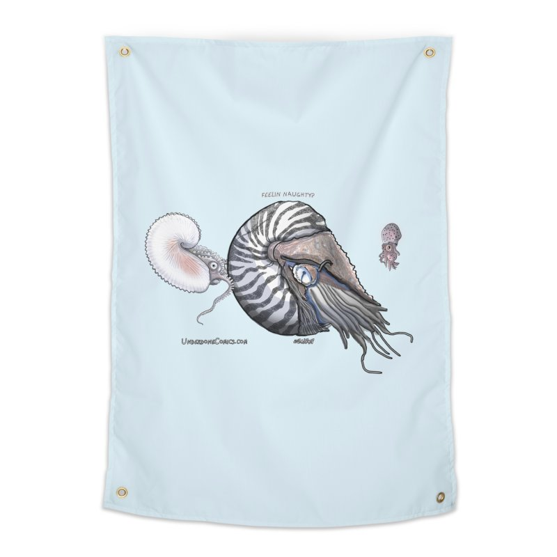 Nautilus and Argonaut Love Triangle Home Tapestry by The Underdone Comics Shop