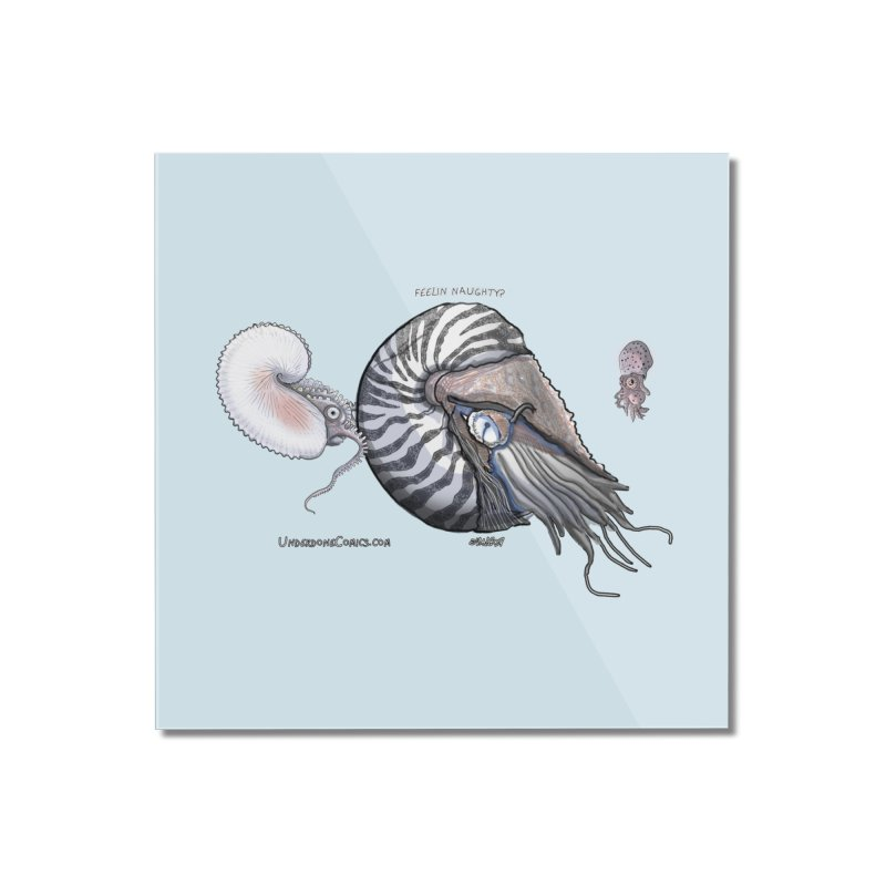 Nautilus and Argonaut Love Triangle Home Mounted Acrylic Print by The Underdone Comics Shop