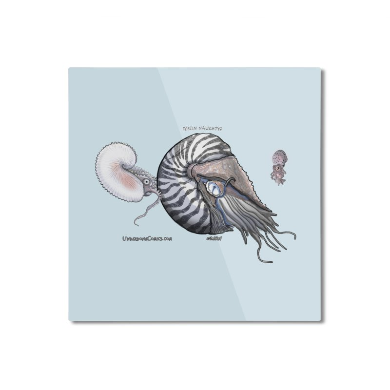 Nautilus and Argonaut Love Triangle Home Mounted Aluminum Print by The Underdone Comics Shop