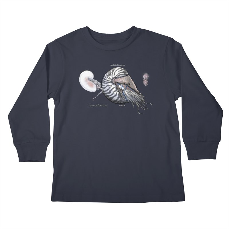 Nautilus and Argonaut Love Triangle Kids Longsleeve T-Shirt by The Underdone Comics Shop