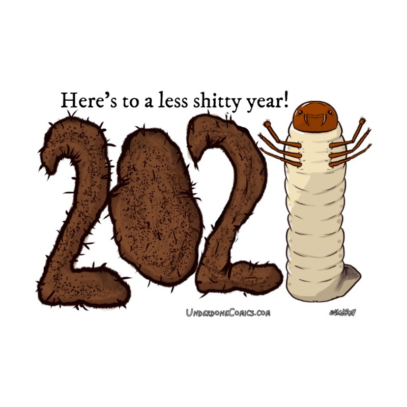 Here's to a Less Shitty Year in 2021! Home Shower Curtain by The Underdone Comics Shop