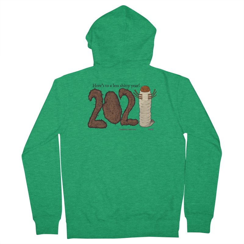 Here's to a Less Shitty Year in 2021! Men's Zip-Up Hoody by The Underdone Comics Shop