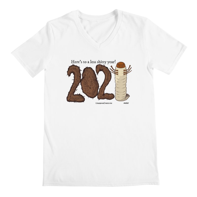 Here's to a Less Shitty Year in 2021! Men's V-Neck by The Underdone Comics Shop