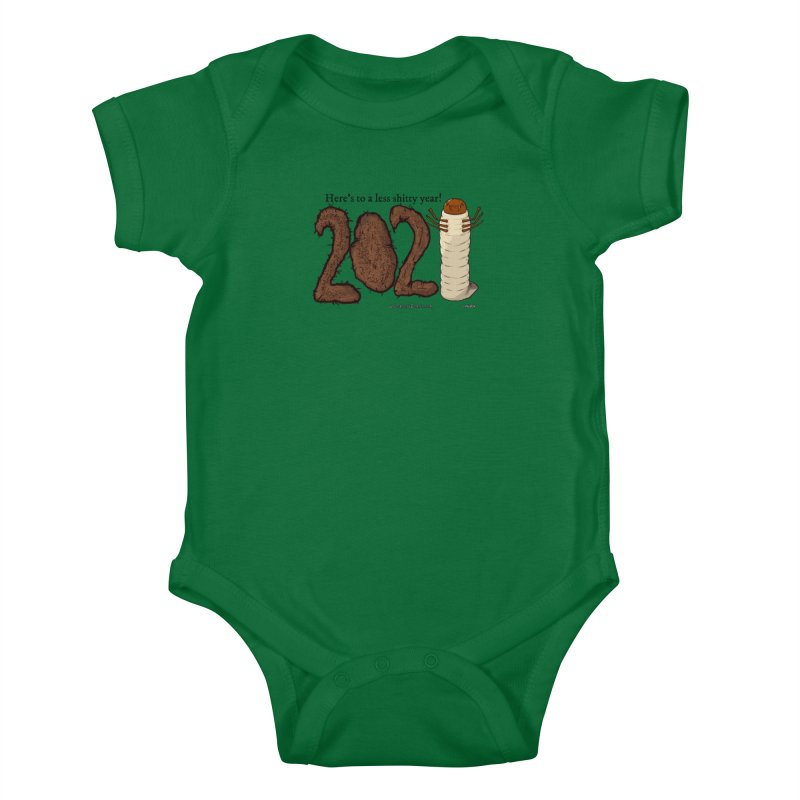 Here's to a Less Shitty Year in 2021! Kids Baby Bodysuit by The Underdone Comics Shop