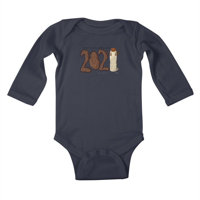 Here's to a Less Shitty Year in 2021! Kids Baby Longsleeve Bodysuit by The Underdone Comics Shop