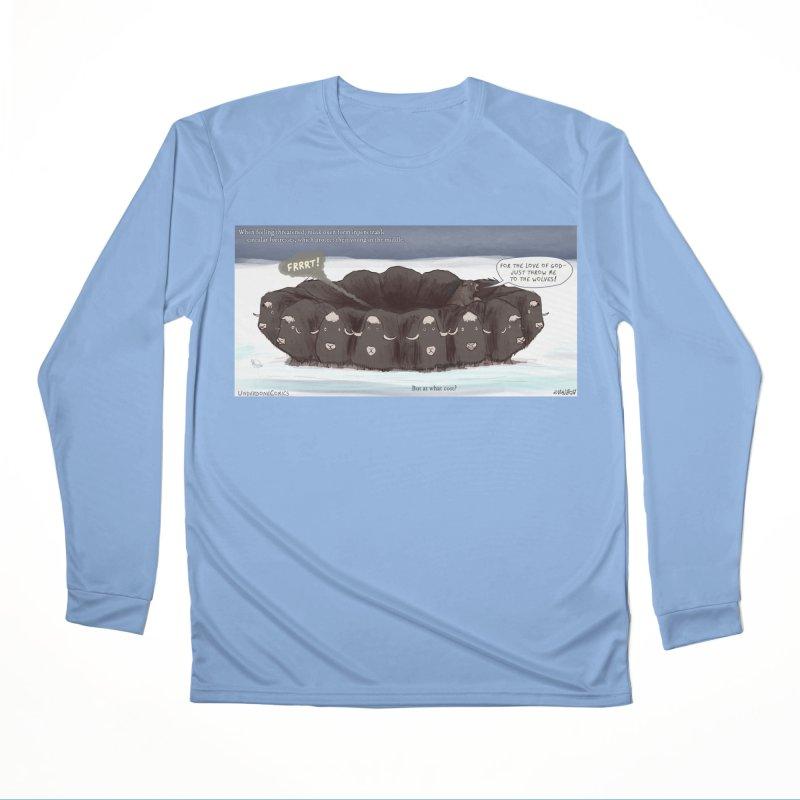 A Muskox Circle Men's Longsleeve T-Shirt by The Underdone Comics Shop