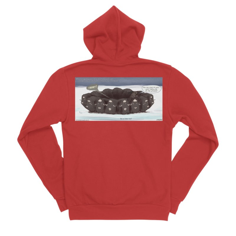 A Muskox Circle Men's Zip-Up Hoody by The Underdone Comics Shop