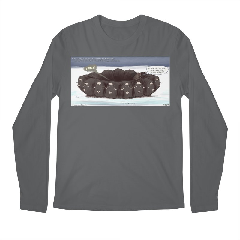 A Muskox Circle Men's Longsleeve T-Shirt by The Underdone Comics Shop