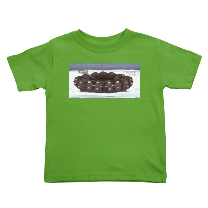 A Muskox Circle Kids Toddler T-Shirt by The Underdone Comics Shop