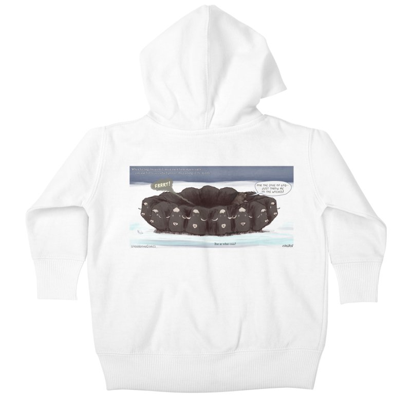 A Muskox Circle Kids Baby Zip-Up Hoody by The Underdone Comics Shop