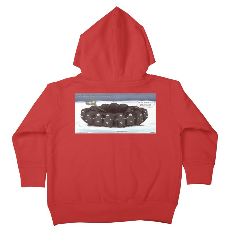 A Muskox Circle Kids Toddler Zip-Up Hoody by The Underdone Comics Shop
