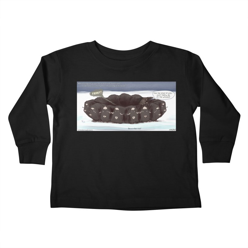 A Muskox Circle Kids Toddler Longsleeve T-Shirt by The Underdone Comics Shop