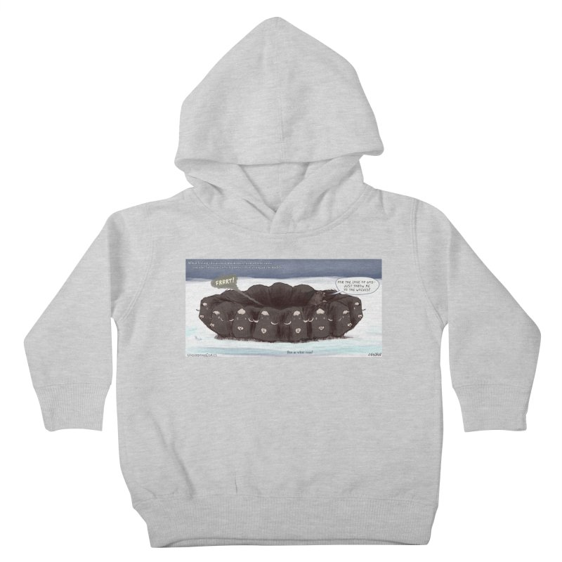 A Muskox Circle Kids Toddler Pullover Hoody by The Underdone Comics Shop