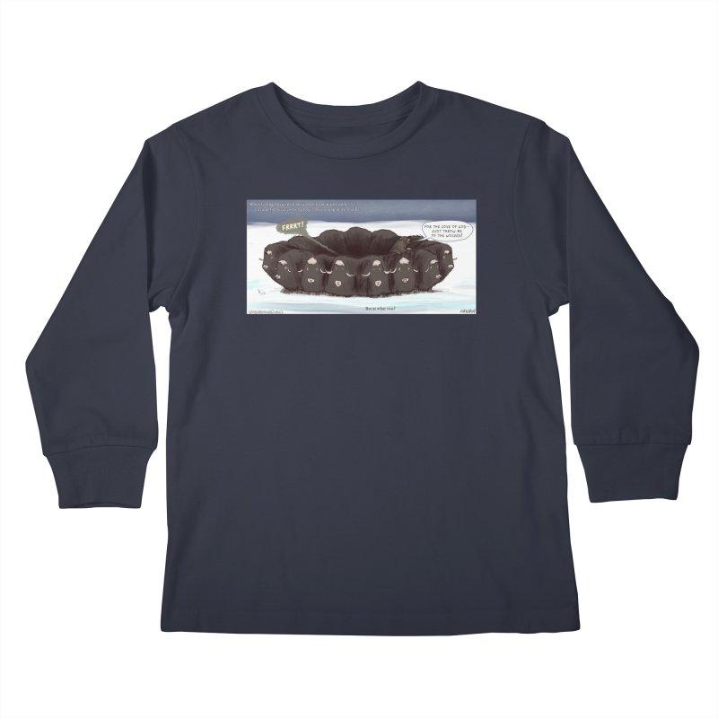 A Muskox Circle Kids Longsleeve T-Shirt by The Underdone Comics Shop