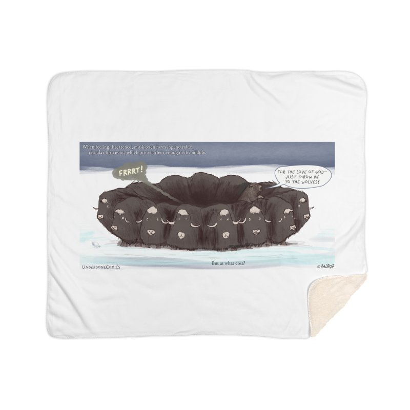 A Muskox Circle Home Blanket by The Underdone Comics Shop