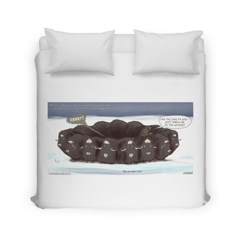 A Muskox Circle Home Duvet by The Underdone Comics Shop