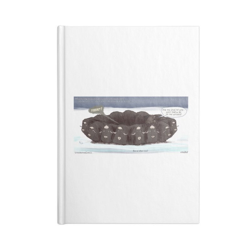 A Muskox Circle Accessories Notebook by The Underdone Comics Shop